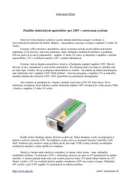 Použitie 230V spotrebičov v ostrovnom FV systéme
