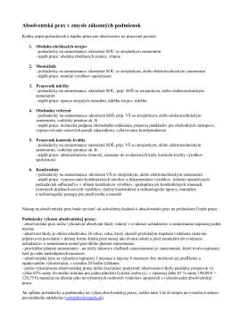 Absolventská prax v zmysle zákonných podmienok