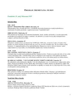 Program premietania filmov