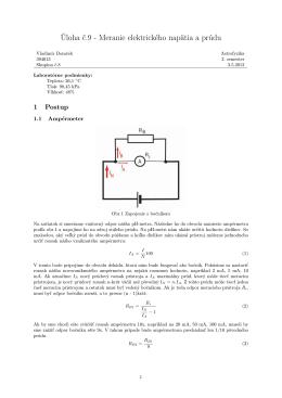 Úloha č.9 - Meranie elektrického napätia a prúdu