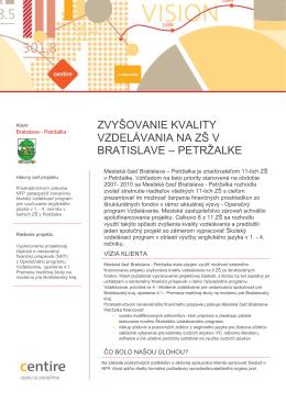 Mesto Bratislava, mestská časť Petžalka
