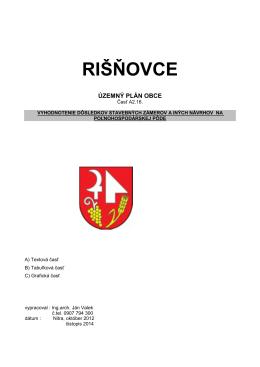 PDF ÚZEMNÝ PLÁN OBCE Časť A2.16. Vyhodnotenie dôsledkov