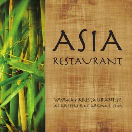 Menu - ASIA Restaurant