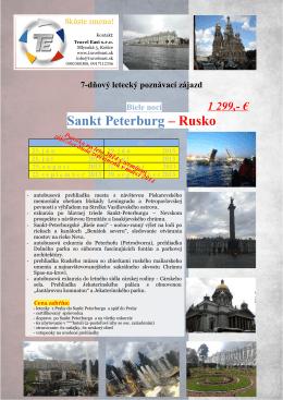 Sankt Peterburg – Rusko