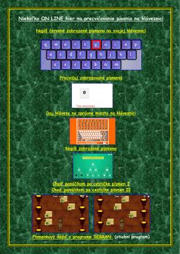 Niekoľko ON LINE hier na precvičovanie písania na klávesnici
