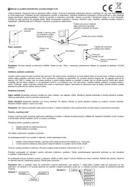 SK Návod na použitie bezdrôtového zvončeka - SOLIGHT E-shop