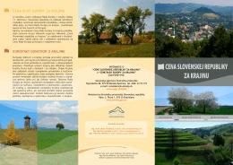cena slovenskej republiky za krajinu