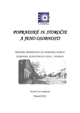 Zborník príspevkov - Gymnázium, Kukučínova 4239/1, Poprad