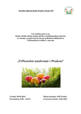 """""""Veľkonočné aranžovanie v Pruskom"""""""