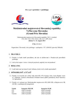 Medzinárodné majstrovstvá Slovenskej republiky Veľká cena
