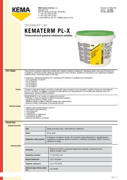 KEMATERM PL-X
