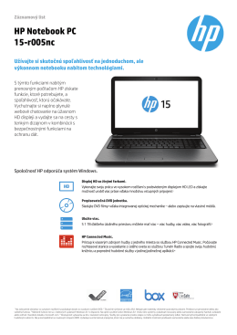 HP Notebook PC 15-r005nc