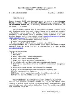 Územná úradovňa ÚOÚČ a DM Slovenskej sekcie IPA Romanova
