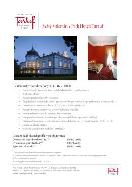 Park Hotel Tartuf / Svaty Valentin