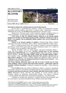 Hlásnik 04/2011