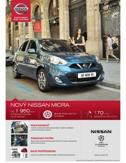 Cenník - Nissan