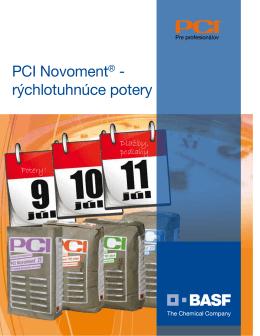 PCI Novoment® - rýchlotuhnúce potery