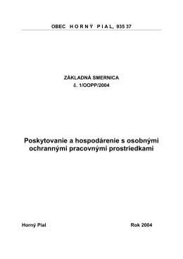 Smernica - hornypial.sk