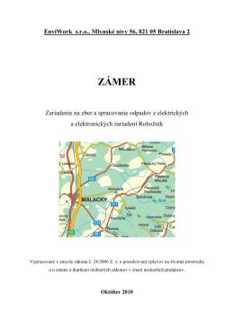 ZÁMER - Obec Rohožník