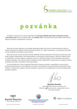 pozvánka - Slovenský cykloklub