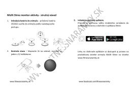 Misfit Shine monitor aktivity - stručný návod