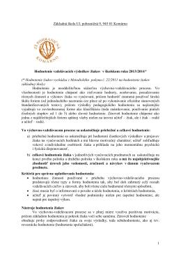 Hodnotenie žiakov 2013/2014 (pdf / 560kB)