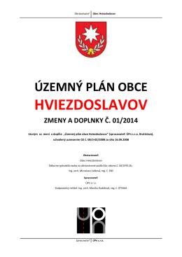 Územný plán obce Hviezdoslavov ZMENY A DOPLNKY č. 01/2014
