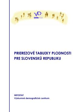 prierezové tabuľky plodnosti pre slovenskú republiku
