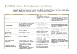 Zoznam # 12 - Jemné brandy