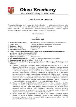 OBEC HORNÝ HRIČOV, Obecný úrad 013 42