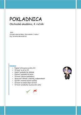 POKLADNICA - Stredná odborná škola, Ostrovského 1, Košice