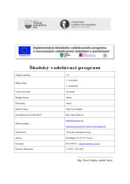 ŠkVP 2012/2013