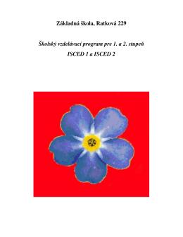 Školský vzdelávací program pre 1. a 2. stupeň