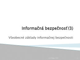 Informačná bezpečnosť(3)