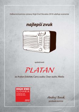 najlepší zvuk - Platan Audio