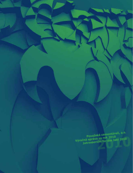 Výročná správa za rok 2010 - Považská cementáreň, as, Ladce