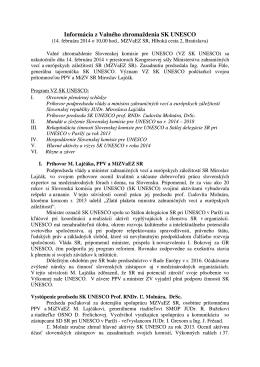 Informácia z Valného zhromaždenia SK UNESCO