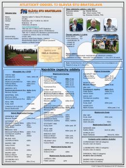 Info 2013 - Atletický oddiel STu Bratislava