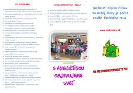 Informačný bulletin - Súkromná základná škola Žilina
