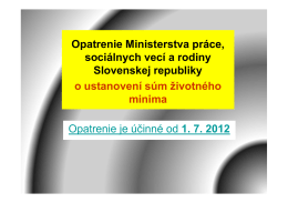 zivotne minimum od 1.7.2012