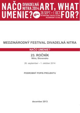 Projekt Divadelná Nitra 2014