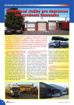 Komplexné služby pre dopravcov na strednom Slovensku