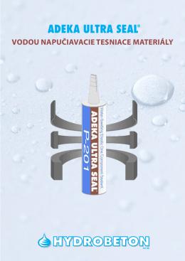 vodou napučiavacie tesniace materiály