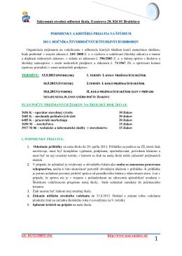 Súkromná stredná odborná škola, Exnárova 20, 826 01 Bratislava