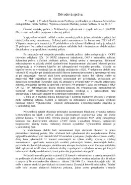Správa o činnosti mestskej polície za rok 2013
