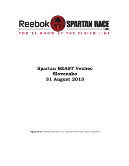 Spartan BEAST Vechec Slovensko 31 August 2013