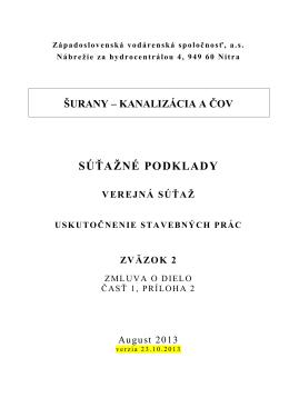 Surany Priloha 2 - Západoslovenská vodárenská spoločnosť, as