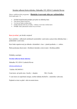 Kurzy 2014.pdf - Stredná odborná škola sklárska