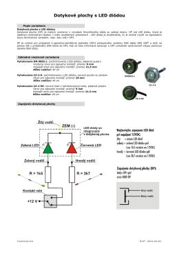 dotyková plocha DM9092-L a CZ-2-S
