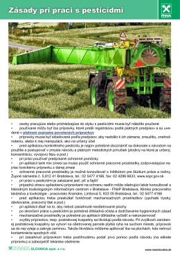 Základy pri práci s pesticídmi